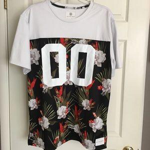 On The Byas mesh tropical print jersey szL